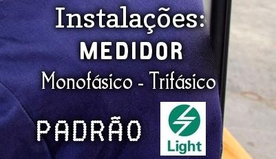 medidor novo - Instalação de Medidor (Relógio) Padrão Light RJ