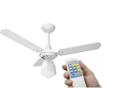Instalação de ventilador de teto com controle